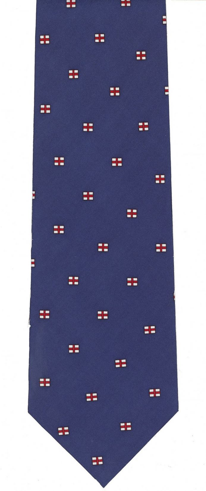 England Silk Tie with Cross of St George design